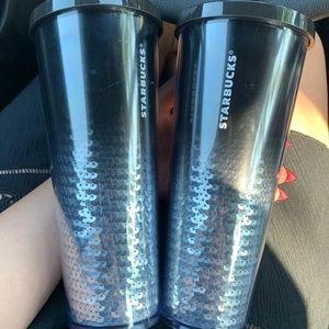 Starbucks silver sequin ombré tumbler